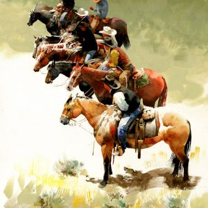 Eight Saddles Bein' Sat by Don Weller