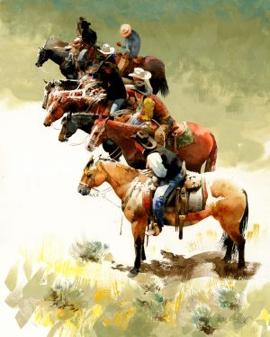 Eight Saddles Bein' Sat by Don Weller