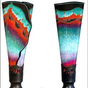 (7) Barbara Woods Chrysalis Lamps