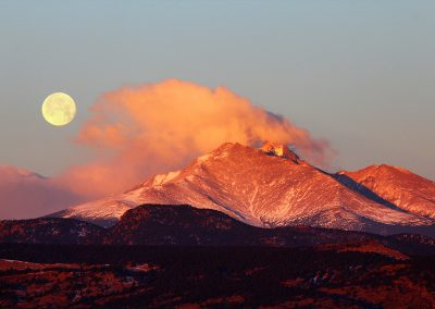Longs Peak Moonset-Sunrise