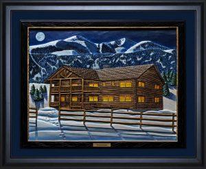 Mountain Lodge by Don Woodard