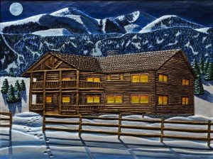 Mountain Lodge by Don Woodard